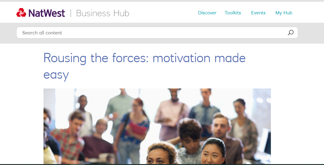 Rousing the forces - motivation made easy on Natwest